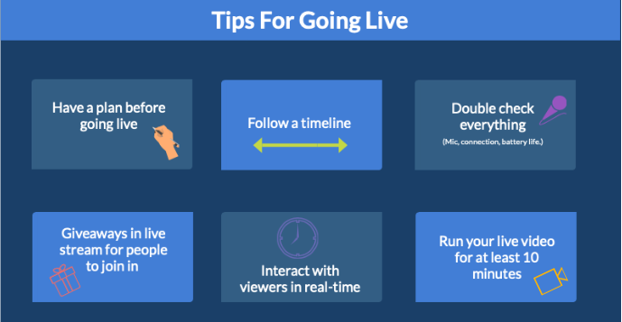 Tips for going live on Facebook